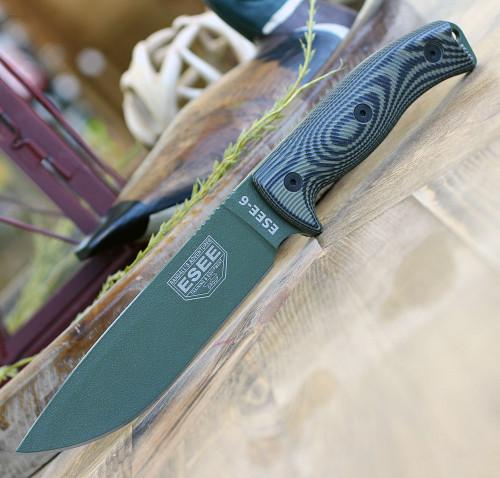 ESEE Model 3 OD grün textuierte 1095 Carbon Mircartagriff ES3PKODT Glasbrecher