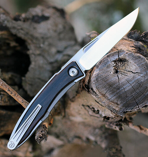 Chris Reeve Mnandi Inlay Macassar Ebony Drop Point (MNA-1016)