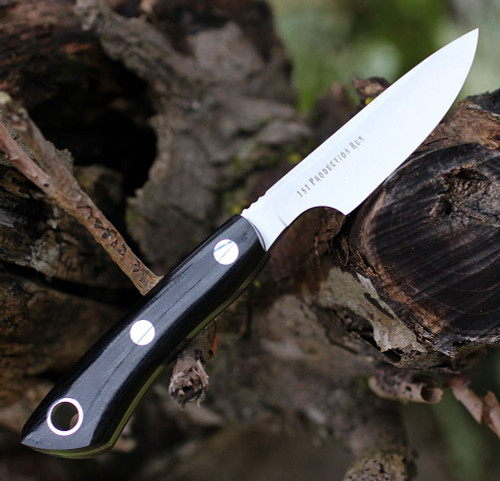 "Bark River Knives Rascal II-BA14152MBC, 3.0"" CPM 154, Black Canvas Micarta Handle"