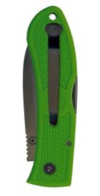 "Ka-Bar Folding Hunter Lockback KA4062KG, 3"" AUS 8A Stainless Steel Plain Blade, Kelly Green Zytel Handle"