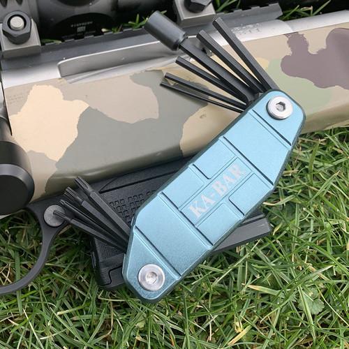 "Ka-Bar Gun Tool KA1308, Overall Length 7.25"" S2 Tools, Aluminum Handle"