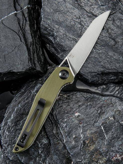 "Civivi McKenna C905B,  2.92"" D2  Satin Sheepsfoot Blade, Green G-10 Handle"
