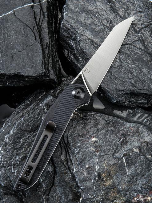 "Civivi McKenna Linerlock Folder C905C,  2.92"" D2  Satin Sheepsfoot Blade, Black G10 Handle"