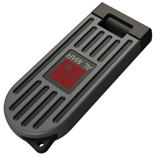 "Al Mar Stinger Keychain 1001GYBK, 1.3"" D2 Plain Blade, PP + TPR Handle-Gray"