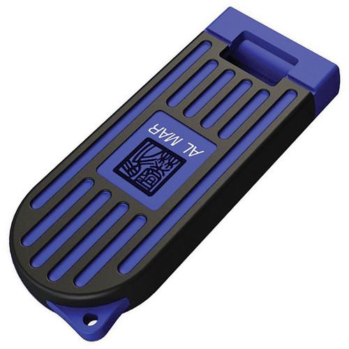 """Al Mar Stinger Keychain AMK1001BKBL, 1.3"""" D2 Plain Blade, PP + TPR Handle-Blue"""