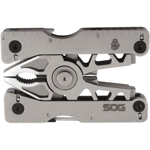 SOG SN1011CP Sync II Multi-Tool, Bead Blast, 12 Tools