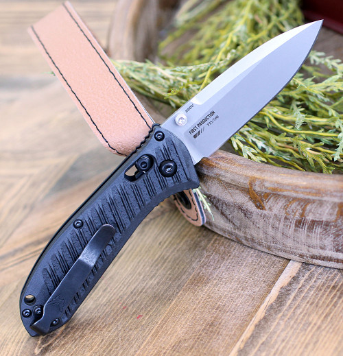 "Benchmade 575-1 Mini Presidio II, 3.20"" CPM-S30V Satin Plain Blade, CF-Elite Handle"