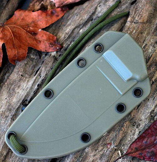 ESEE 3SM-MB-DT, Combo Edge,Modified Pommel, Foliage Green Sheath w/ Molle Back, No Box