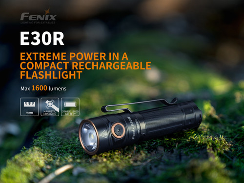 Fenix E30R Rechargeable EDC Flashlight, 1600 Lumens