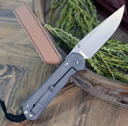 "Chris Reeve Knives Large Sebenza 31 CGG Rhino, 3.61"" CPM S35VN Stonewashed Drop Point Blade (L31-1500)"