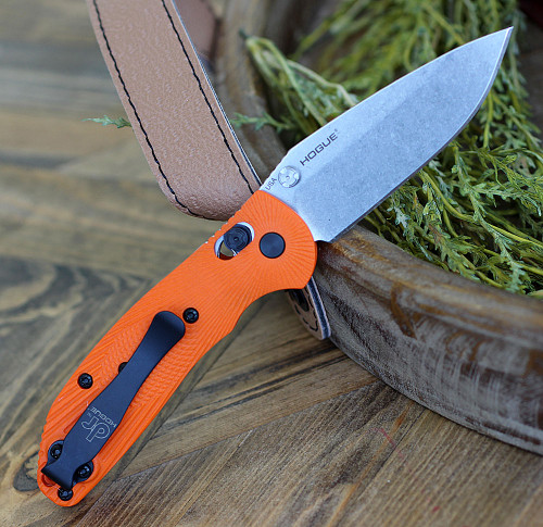 Doug Ritter Mini-RSK®  MK1-G2 Knifeworks Exclusive - Orange/ Stonewashed