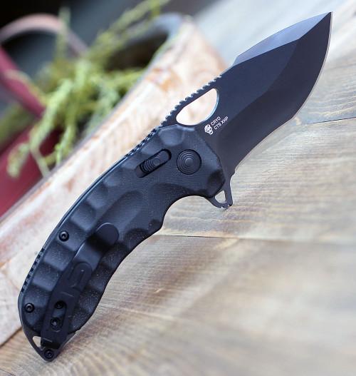 """SOG Kiku XR Folding Knife 3.03"""" CTS XHP  Black Cerakote Blade"""