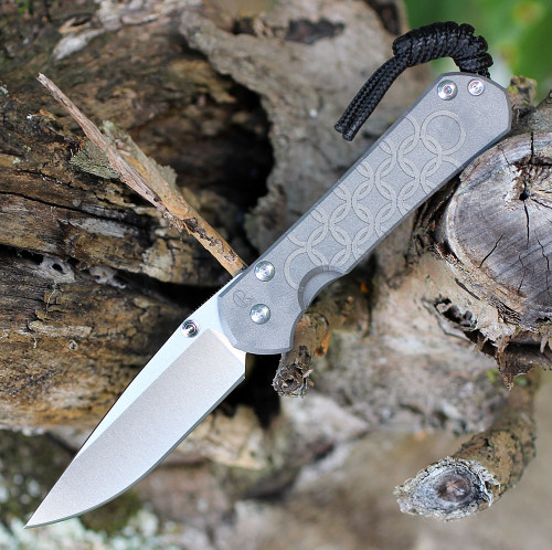 "Chris Reeve Knives Small Sebenza 31 CGG Chainmail, 2.99"" CPM S35VN Stonewashed Drop Point Blade (S31-1502)"