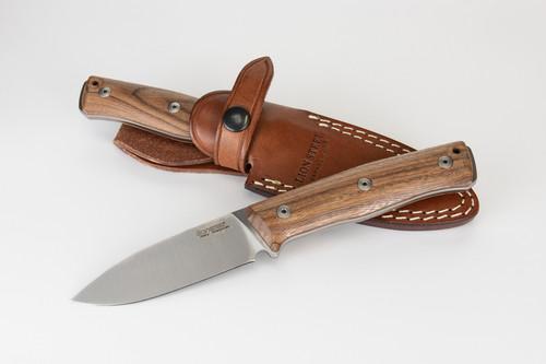 "LionSteel B35ST 3.54"" Sleipner Steel Satin Blade, Santos Wood Handle"