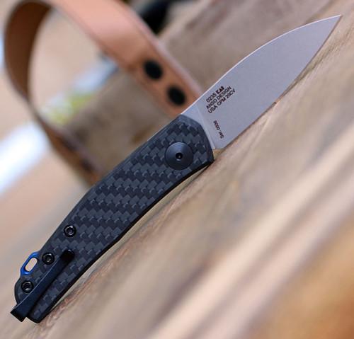 "Zero Tollerance 0235, 2.6"" CPM 20CV Stonewashed Blade, Carbon Fiber Handle"