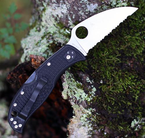 """Spyderco RockJumper C254SBK, 3.08"""" VG-10 SpyderEdge Blade, Black FRN Handle"""