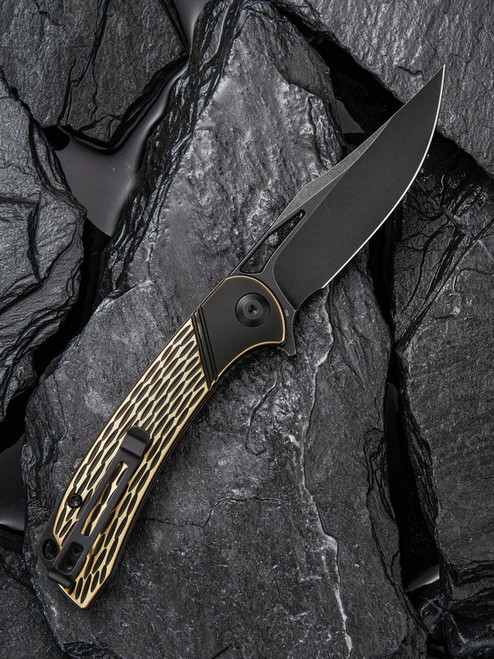 "Civivi Dogma Linerlock C2005E, 3.46"" D2 Black Stonewashed Plain Blade,  G10 Handle"