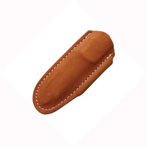 Bradford Guardian 3.5 Tanto Stonewashed N690 Blade, Camo Canvas Micarta Handle w/Brown Leather Sheath