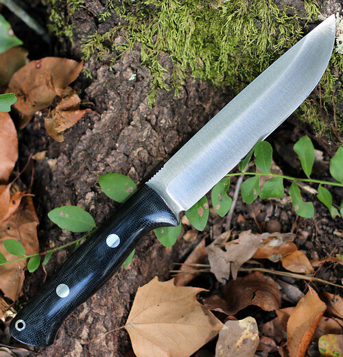 "Bark River Knives Bravo 1.5 Field, 5.8"" CPM-3V Plain Blade, Black Canvas Micarta Handle"
