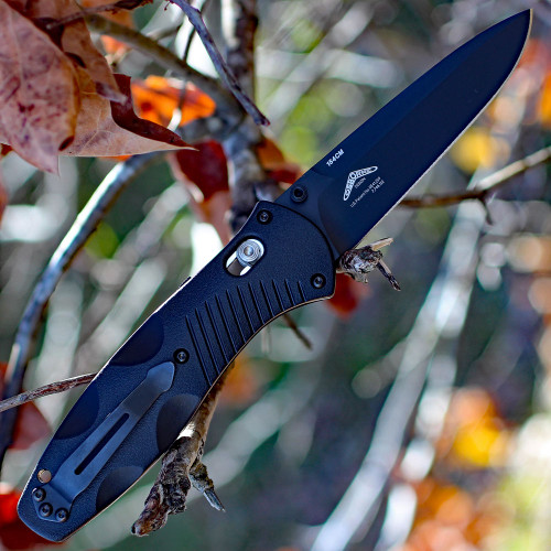Benchmade Barrage 580BK, 3.6 in. 154CM Stainless Blade, Assisted Opening, Black Plain Edge