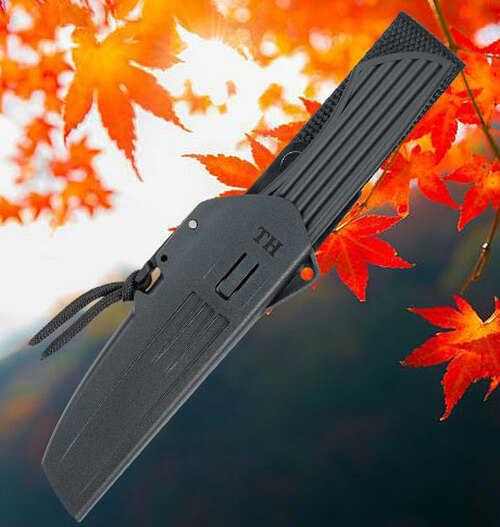 "Fallkniven Taiga Hunter 2, 3.30"" Lam. CoS Plain Blade, Black Thermorun Handle w/ Zytel Sheath"