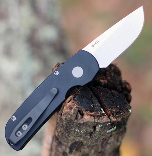 """ProTech 2201 Calmigo, 2.0"""" 154cm Stonewash Plain Blade, Aluminum Handle"""