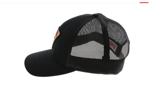 Bubba Black Marlin Hat with Black Mesh Back