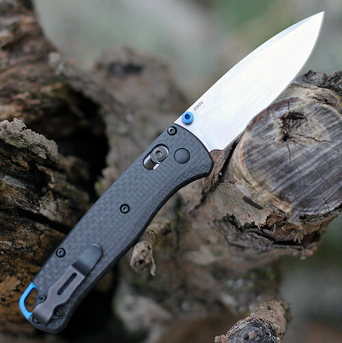 "Benchmade Bugout 535-3, 3.24"" CPMS90V Plain Blade, Carbon Fiber Handle"