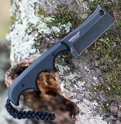 "CRKT 2383K Minimalist Cleaver Blackout, 2.13"" 5Cr13MoV Stonewashed Fixed Blade, Black G10 Handle w/ Polypropylene Sheath"
