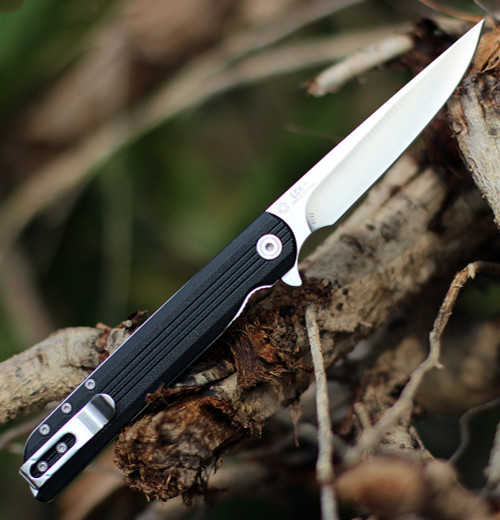 "CRKT 3810 Large LCK+, 3.62"" 8Cr13MoV Satin Plain Blade, Glass Reinforced Polymide Handle"