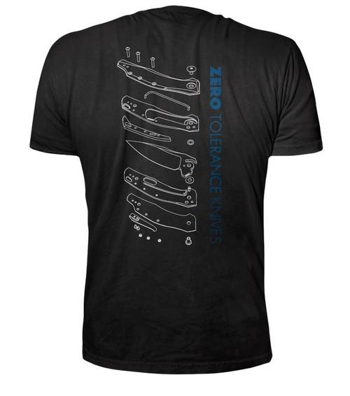 Zero Tolerance, ZT - T-Shirt 0357, 3D Exploded View, Small