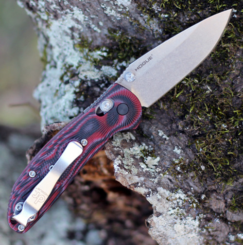 Doug Ritter Mini-RSK®  MK1-G2 Knifeworks Exclusive - G-Mascus® Red G-10/Stonewashed