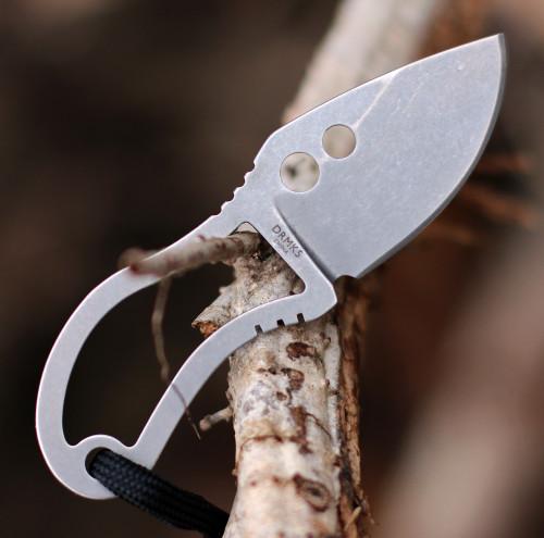 "Doug Ritter RSK® Mk5 Survival Knife, 1.75"" Stonewashed Fixed Blade, Black Sheath"