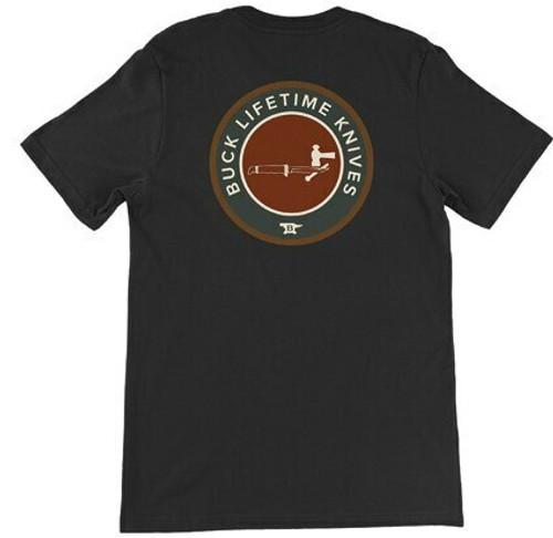 Buck Knives Black Buck Lifetime Knives T-Shirt,l, large