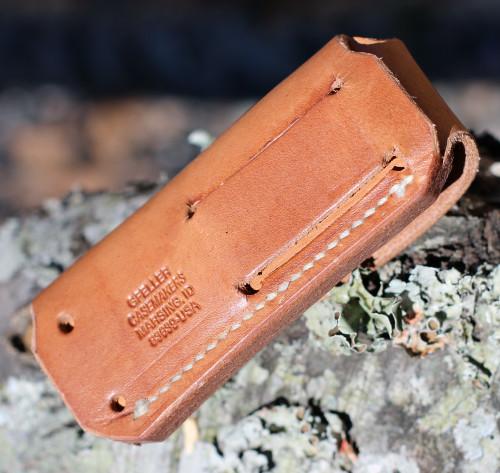 Chris Reeve Tan Calfskin Leather Belt Sheath