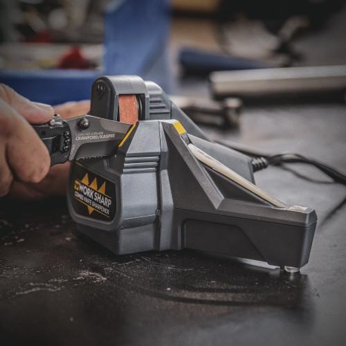Work Sharp Abrasives for the combo Knife Sharpener Model WSCMB, (3) P120 abrasives belt, WSSA000CMB