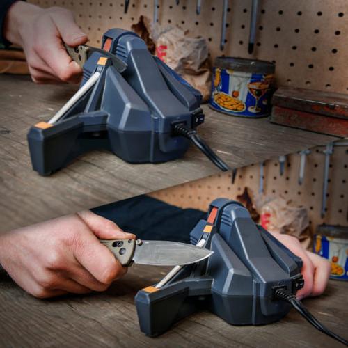 Work Sharp Combo Knife Sharpener WSCMB, 2-P120 Grit Abrasive Belts