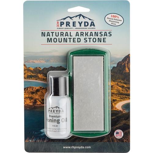 RH Preyda Hard Arkansas Pocket Stone Kit 30998, Honing Oil and PVC Non-Slip Base