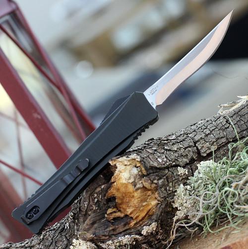"""Boker Plus Eagle D2 06EX221, 3.35"""" D2 Steel Two-tone Plain Blade, Black Aluminum Handle"""