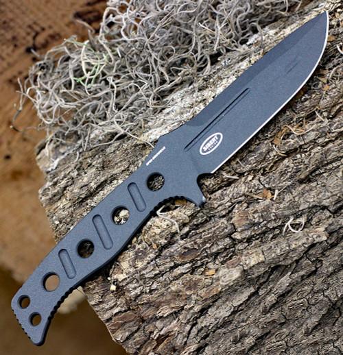 "Benchmade 375BK-1 Fixed Adamas, 4.20""CPM-CruWear Cobalt Black Plain Blade, Black CPM CruWear Handle w/ Sheath"
