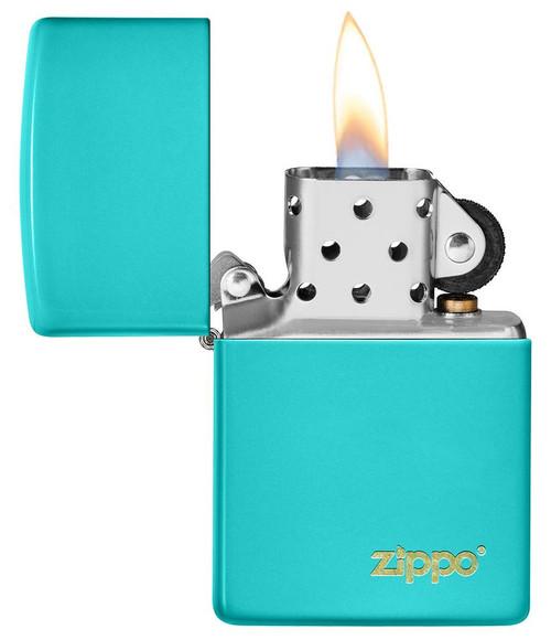 Zippo 49454ZL-000003 Classic Flat Turquoise Lighter