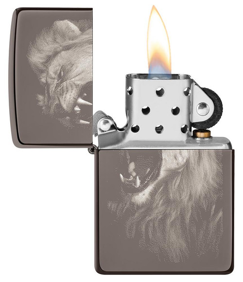 Zippo 49433-000003 Lion Design Lighter