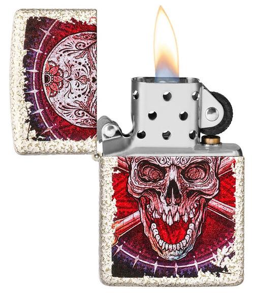 Zippo49410-000003 Skull Design Lighter