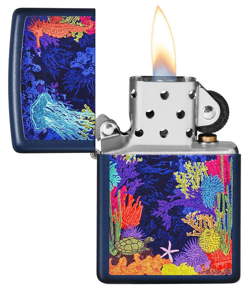 Zippo 49409-000003 Sea Life Design Lighter