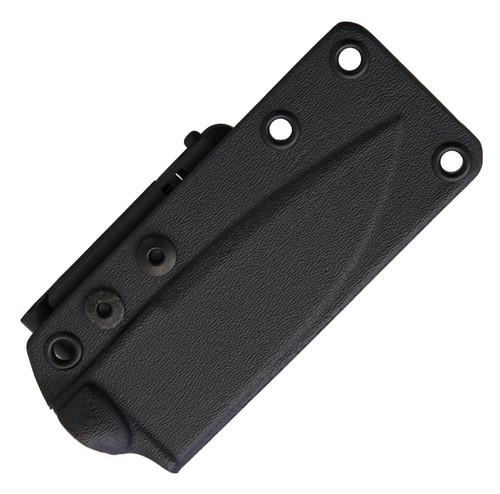 "Bastinelli Creations R.E.D. Fixed Blade BAS04C, 4"" N690 Black Plain Blade, Coyote Tan G-10 Handle, Black Kydex Sheath"