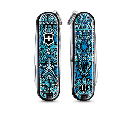 """Victorinox Swiss Army Classic SD Limited Edition 2021 """"Patterns of the World"""" - Ocean Life - 0.6223.L2108"""