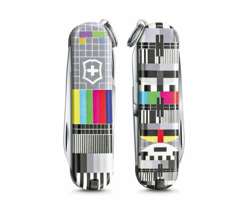 """Victorinox Swiss Army Classic SD Limited Edition 2021 """"Patterns of the World"""" - Retro TV - 0.6223.L2103"""