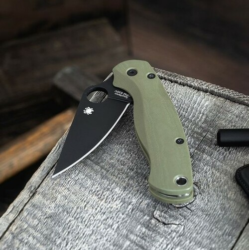 Flytanium Lotus OD Green G-10 Scales - for Spyderco Paramilitary 2 Knife fly-814, pm2