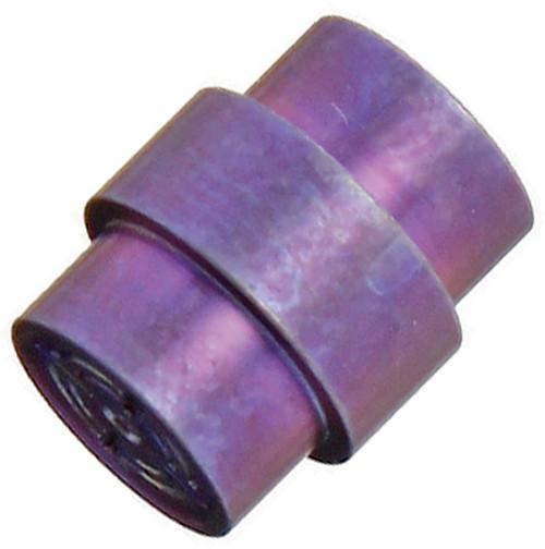 Flytanium Titanium Purple Stonewashed Crosshair Lanyard Hole Stopper - for Spyderco Paramilitary 2 / Para 3 Knife