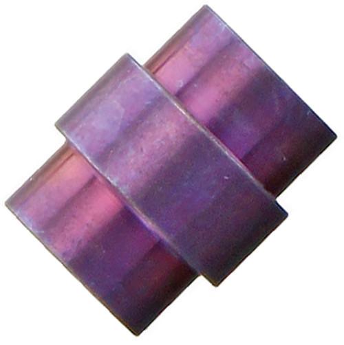 Flytanium Purple Titanium Stonewashed Stepped Hole Stopper - for Spyderco Paramilitary 2 / Para 3 Knife